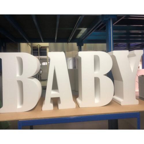 """Lettres """"BABY"""" - Police Bernard MT Condensed"""