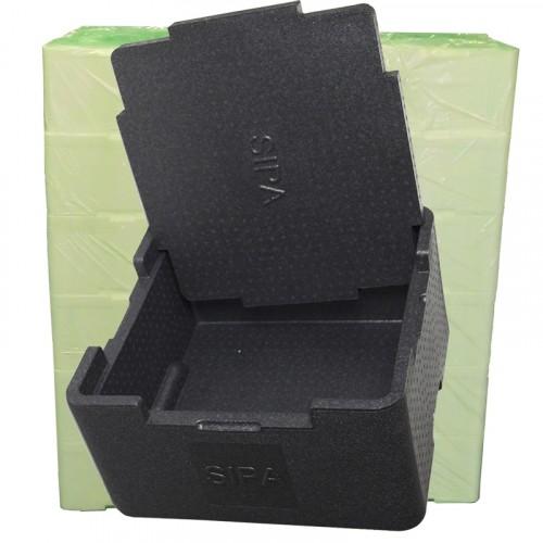 35 Litres polypropylène noir - Conditionnement à l'unité (Réf. sipabox)