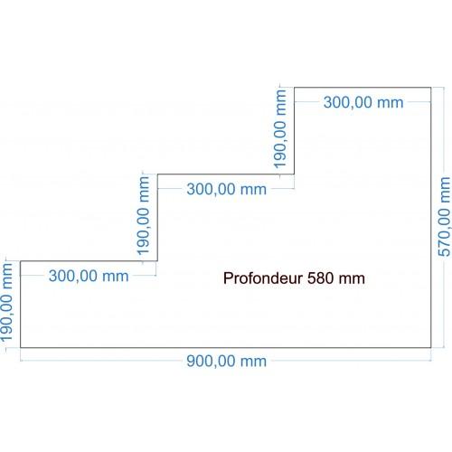 Code 213 - ESCALIER 90 x 57 x 58 cm - 25 Kgs/M3